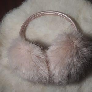 Pink faux fur earmuffs